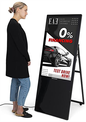 "43"" floor standing digital sign with touch screen"