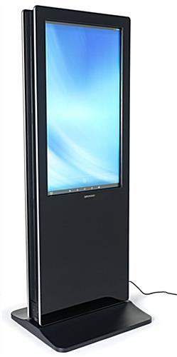 2-Sided touch screen digital poster kiosk features plug and play design