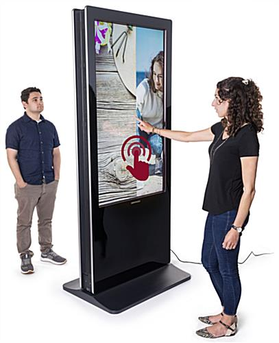 Double-sided digital vertical touchscreen kiosk for indoor use only