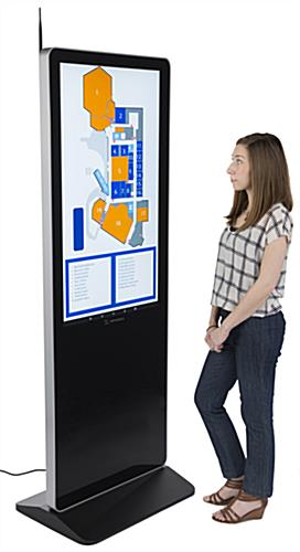 "43"" digital advertising floor stand display with non-touch LCD screen"