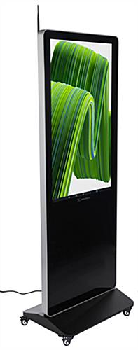 "43"" digital advertising floor stand display with tempered glass screen"