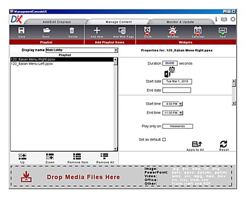 Dual content management software license for independently operating screens