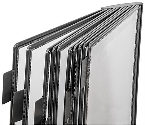 Wall Mount Reference Rack With 10 Binder Pockets