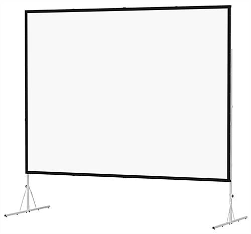 Folding Projector Screen w/ Shipping Case