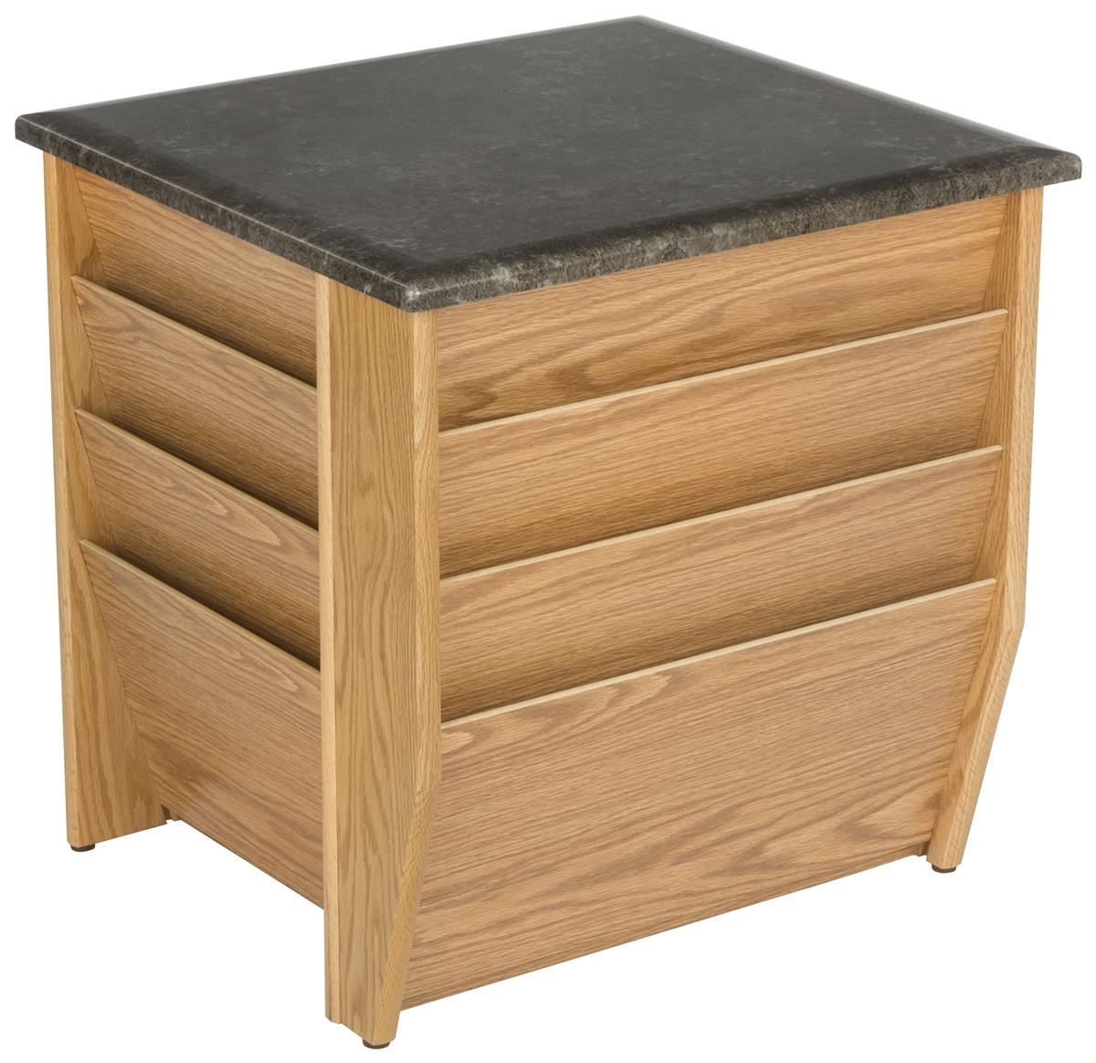 Wonderful image of Light Oak Magazine Rack End Table Black Top with 9 Pockets with #9A6C31 color and 1200x1163 pixels