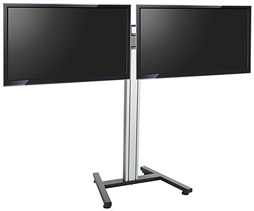 Dual Screen Floor Stand for Flat Panels