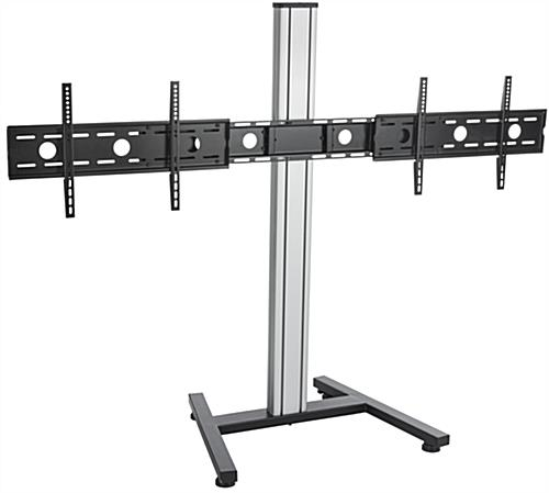Dual Screen Floor Stand, Height Adjustable