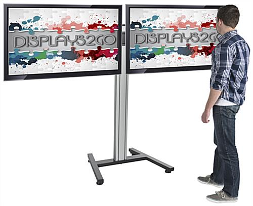 Dual Screen Floor Stand for Trade Shows