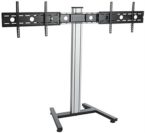 dual screen floor stand height adjustable mount. Black Bedroom Furniture Sets. Home Design Ideas