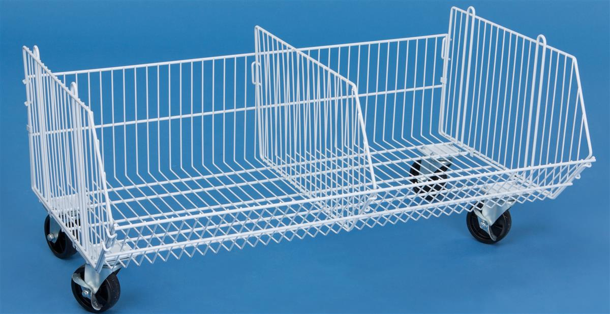 Wire Basket for Storage | Wire Dump Bin with Wheels