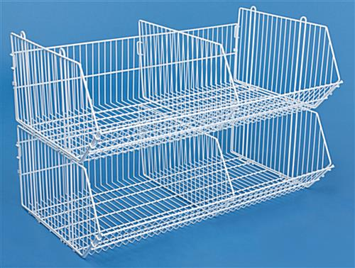 White Wire Bins