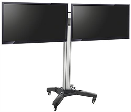 Side by Side Dual TV Rack for LED Screens