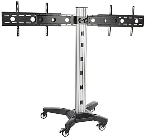 Mobile Side by Side Dual TV Rack