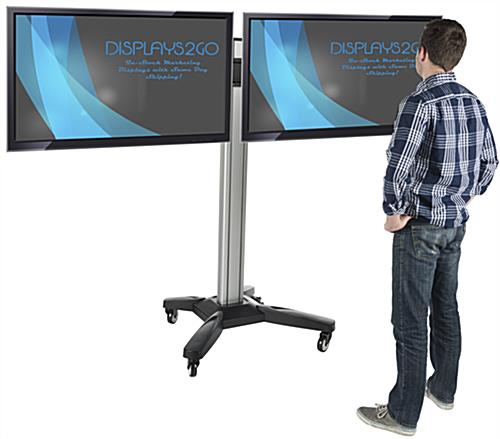"Side by Side Dual TV Rack for 37""-60"" Screens"