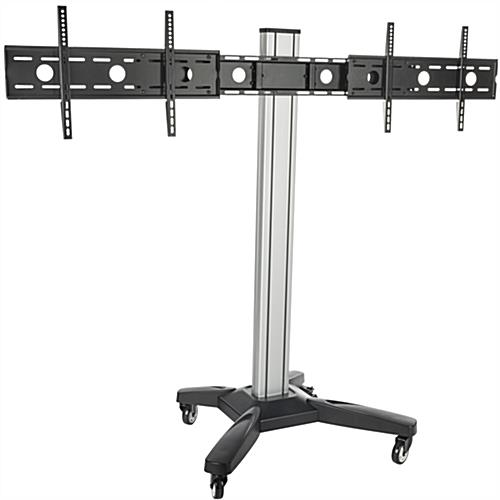Side by Side Dual TV Rack w/ Wheels