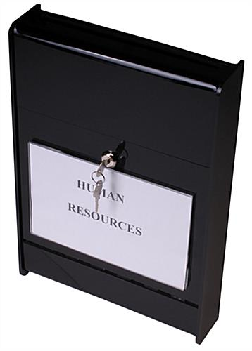Wall Mount Ballot Box Acrylic Container With Top Slot