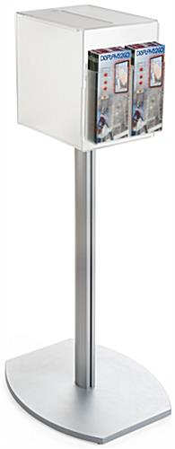 Pedestal suggestion box stand with lock and dual pockets
