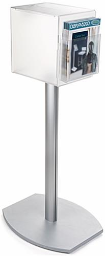 Pedestal suggestion box stand with lock single pocket
