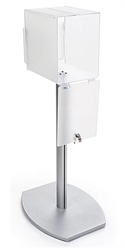 Freestanding pedestal suggestion box stand with lock
