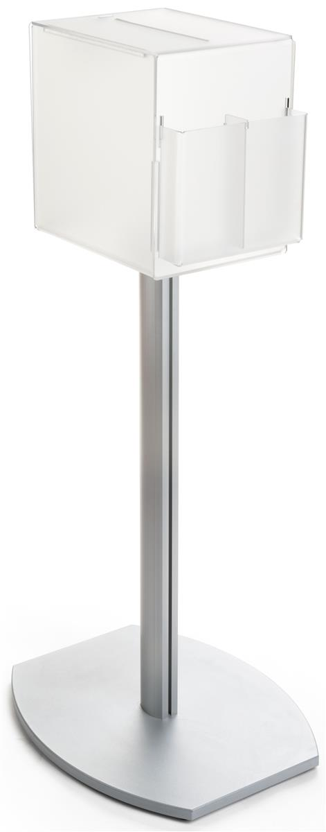 Pedestal Suggestion Box Stand With Lock Frosted For Privacy