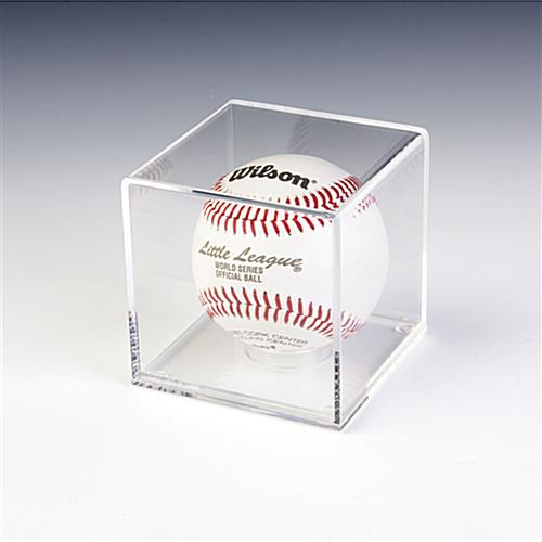 Baseball Display Cases Removable Round Riser Included