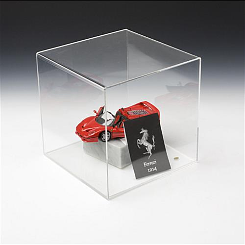 800f3be0 Model Display Case w/ Lift-Off Top, Acrylic Sides & Base