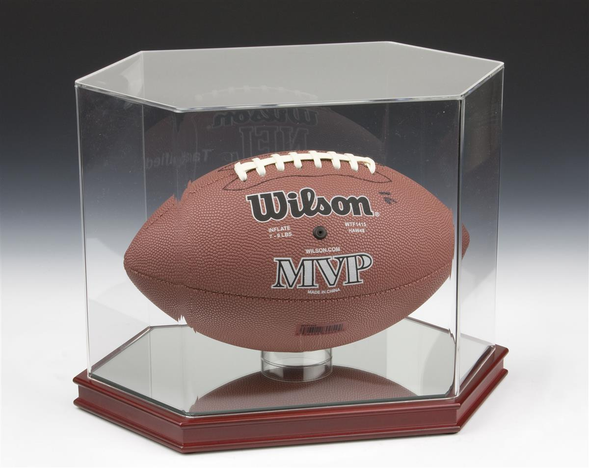 Displays2go Sports Display Case w/ Lift-Off Acrylic Top f...