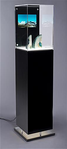 Bright LED Lit Digital Pedestal Vitrine