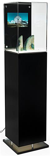 Black Digital Pedestal Vitrine