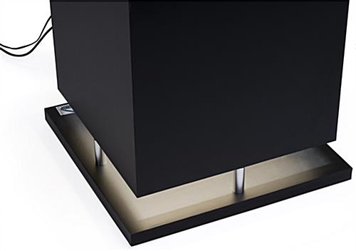 Multimedia Display Case Pedestal with LED Lit Base