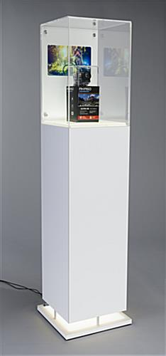 Bright LED Lit Tall Digital Pedestal Case Display