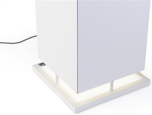 Pedestal Digital Multimedia Display Case with Square Design
