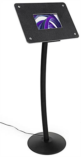 Small digital display stand with photo video and audio capabilities