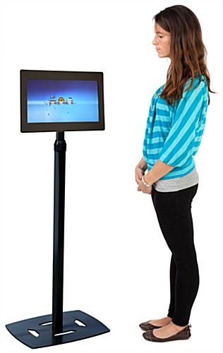 Digital Picture Frame Kiosk with Weighted Base