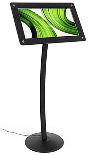 Digital floor sign pedestal with photo audio and video capabilities