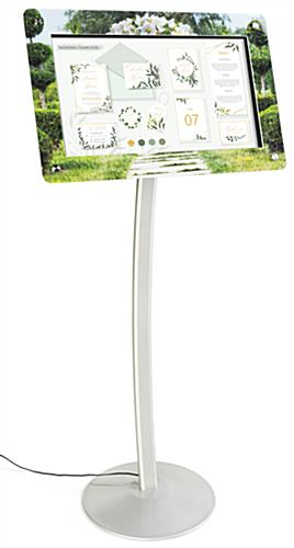 Custom frame for DPF215 digital sign stands with high quality printing