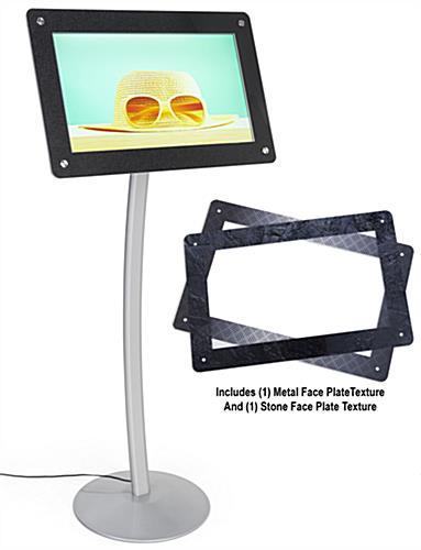 Digital poster pedestal stand with built in clock alarm and calendar