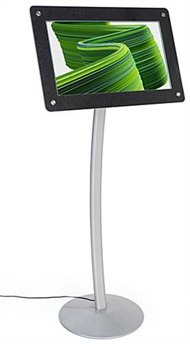 Digital poster pedestal stand with photo audio and video display