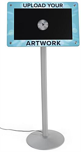 Custom frame digital pedestal sign with full color personalized graphics
