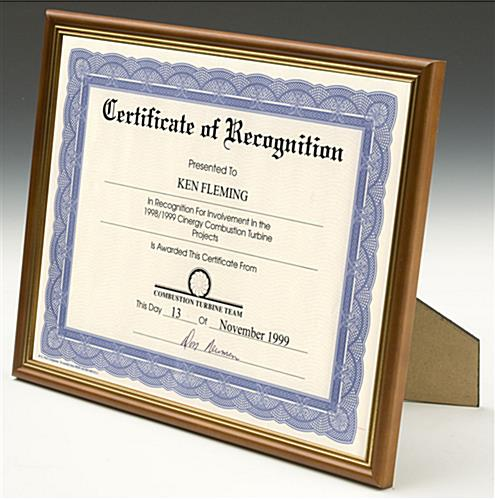 "Certificate Frames: Display 8-1/2"" x 11"" Documents"