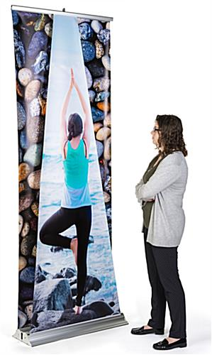 Dual layer 3D roller banner display with full color graphics
