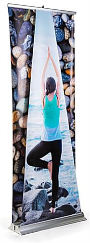 Visually stunning dual layer 3D roller banner display