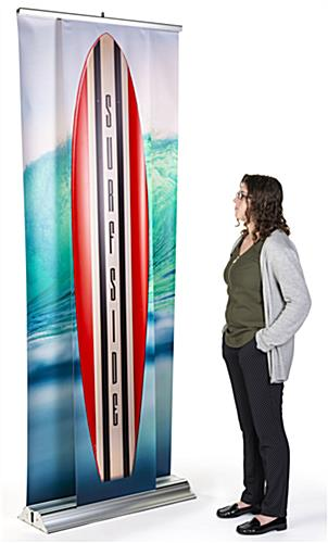 3D effect dual layer pull up banner stand have stunning custom graphics