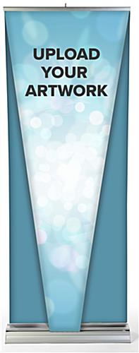 Replace 3d inverted pyramid layered pull up banner features premium vinyl-like material
