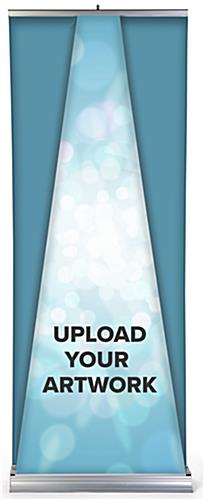 Replacement roll up dimensional pyramid banner with custom artwork graphics