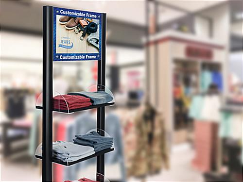 UV printed customized digital merchandising shelves