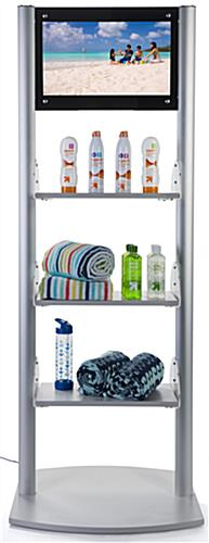 Merchandising Shelves with Digital Sign & Built-in Media Player