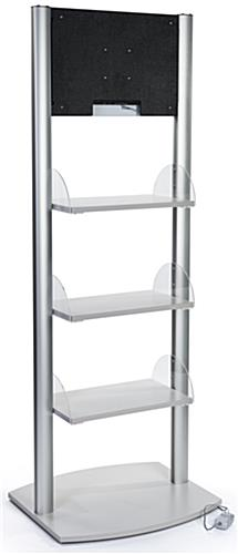 Silver Retail Shelves with Branded Digital Sign