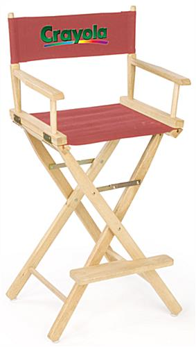 Wooden Directors Chairs custom director's chairs | portable seating with printed seatback