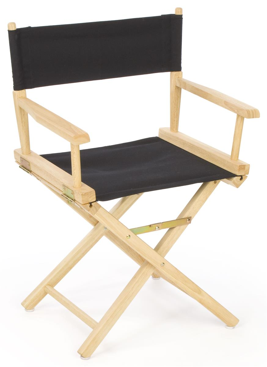 Folding Director S Chair 18 Quot Wooden With Black Canvas Seat